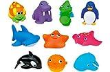 Munchkin 10 Squirtin' Sea Buddies Bath Toys.