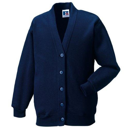 Jerzees Schoolgear Kid'S Cardigan French Navy 9-10 Yrs front-921520