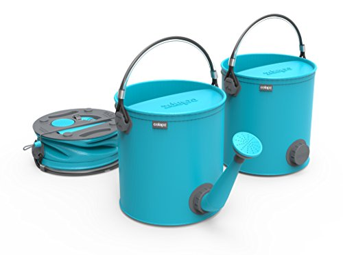COLOURWAVE Collapsible 2-in-1 Watering Can/Bucket, 7-Liter, Aqua Blue (Blue Watering Can compare prices)
