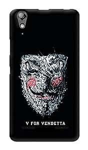 "Humor Gang V For Vendetta Scattered Mask Printed Designer Mobile Back Cover For ""Lenovo A6000"" (3D, Glossy, Premium Quality Snap On Case)"