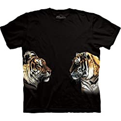 Animal World - Tigers Facing Off T-Shirt Black