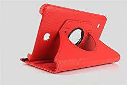 Best Deals - Premium Quality Leather Rotable Flip Stand Cover Case for Samsung Galaxy Tab4 7 inch T230/T231 ORANGE