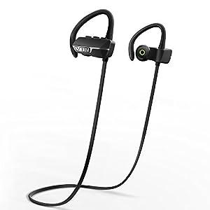 VicTsing Auriculares Bluetooth 4.1 Inalámbrico Con Sonido Estéreo para Deporte / Correr con AptX y Manos Libres para iPhone, Samsung, Sony, HUAWEI, XIAOMI etc- Color Negro