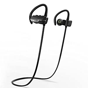 Vtin Auriculares Bluetooth 4.1 inalámbrico con sonido estéreo para deporte / Correr con aptX y manos libres para iPhone, Samsung, Sony,HUAWEI, XIAOMI etc- Color Negro