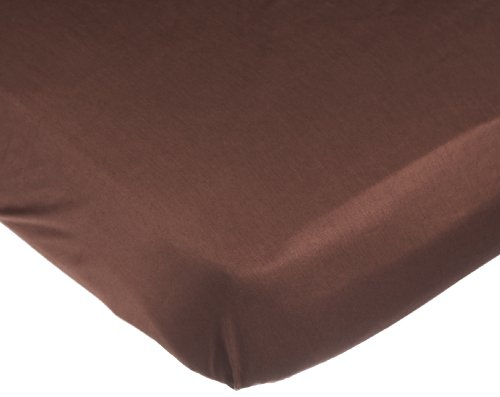 Carters Easy Fit Sateen Crib Fitted Sheet, Chocolate