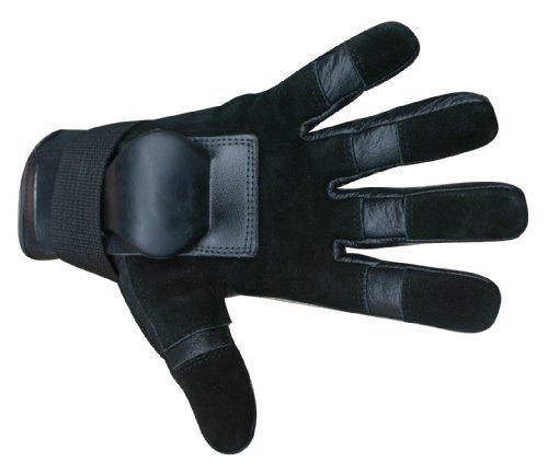 Hillbilly Wrist Guard Gloves - Full Finger (Black, Medium) Color: Black Size: Medium Model: 27072