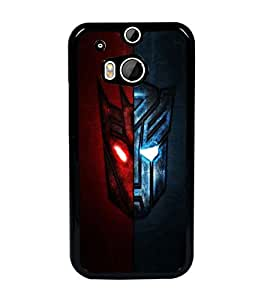 PrintDhaba Mask D-5980 Back Case Cover for HTC ONE M8 (Multi-Coloured)