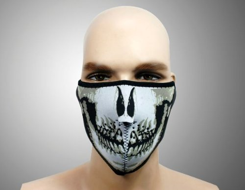 Skull Bandana Motorcycle Biker Face Mask half Helmet Brand New