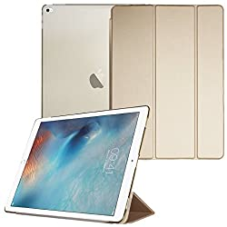 Smart Cover for Apple iPad Pro, Go Crazzy Translucent Back Flip Case for Apple iPad Pro 2015 Edition (Golden)