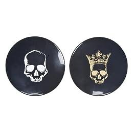 "Product Image Skull Melamine Appetizer Plate Set of 12 - 6"""