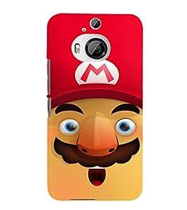 EPICCASE Mario Cartoon Face Mobile Back Case Cover For HTC One M9 Plus (Designer Case)