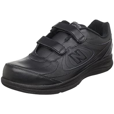 New Balance Men's MW577 Leather Hook/Loop Walking Shoe,Black,8.5 2E US