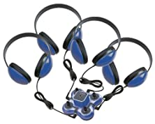 buy Califone 1114Bl-4 4-Position Wired Listening First Listening Center, Blue