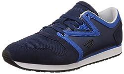 Diesel Men's Black Jake E-Boojik Blue Iris and Skydiver Leather Sneakers - 9 UK/India (43 EU)