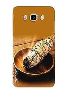 Omnam Tobacco Leaves Burning Printed Designer Back Cover Case For Samsung Galalxy J5 (2016)