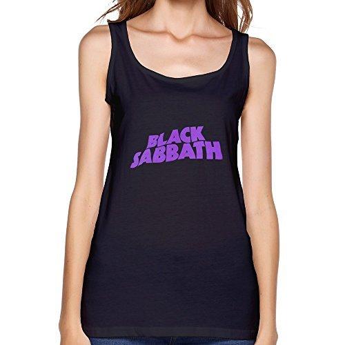 Black Tank Top For Donna Black Sabbath Logo