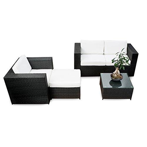 erweiterbares-12tlg-Polyrattan-Lounge-Mbel-Set-Balkon-schwarz-Sitzgruppe-Garnitur-Gartenmbel-Balkon-Lounge-Terrasse-inkl-Lounge-Sofa-Sessel-Hocker-Tisch-Kissen