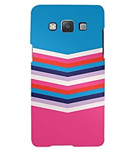PrintVisa Colorful Symmetry Pattern 3D Hard Polycarbonate Designer Back Case Cover for Samsung Galaxy E5