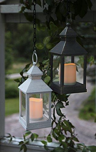 2er-Set-2-Stck-Romantisch-dekorative-LED-Laternen-24-cm-x-10-cm-in-WEISS-und-SCHWARZ-mit-LED-Kerze-flackernd-inklusive-Timer-fr-Innen-und-Auen-Bereich-OUTDOOR-NEU-aus-dem-KAMACA-SHOP