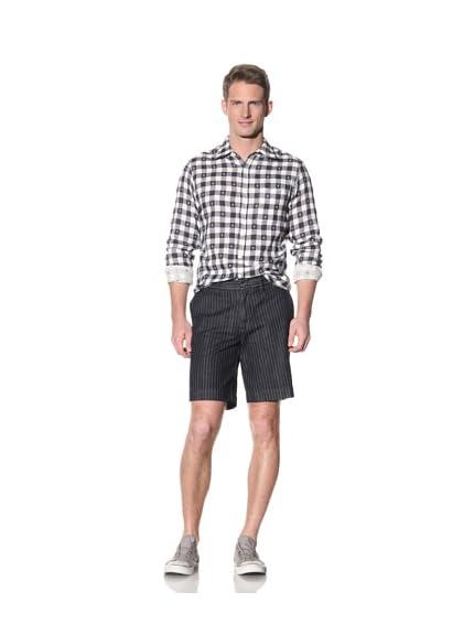 Barque Men's Pinstripe Denim Classic Shorts