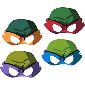 Teenage Mutant Ninja Turtles Mask Template http://www.cakitches.com/general/teenage-mutant-ninja-turtles-masks.html