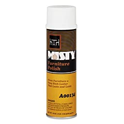 Misty Furniture Polish for Wood, Citrus Scent, 20 oz. Aerosol Can - 12 20-ounce aerosol cans per case.