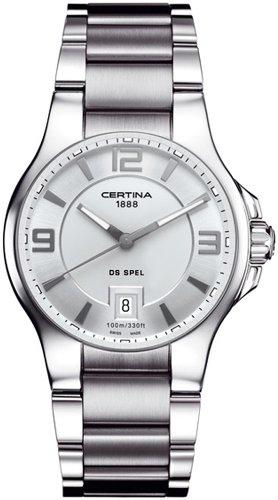 Certina Men's Watch XL Analogue Quartz Stainless Steel C012,410,11,037,00