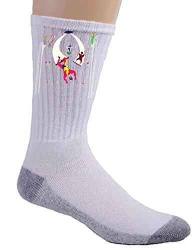 """Acrobats At Circus"" Colorful Artwork - Crew Socks front-1064833"