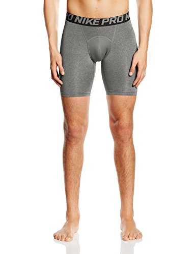 "Nike Mens Pro 6"" Cool Compression Shorts Carbon Grey/Black 703084-091 Size Small"