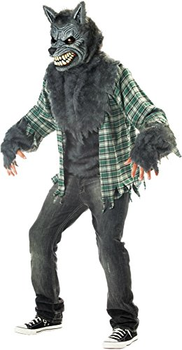California Costumes Mens Wolf Full Moon Madness Theme Halloween Party Dress