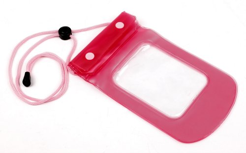 hot-pink-travel-water-proof-bag-dry-pouch-with-neck-strap-for-polaroid-c3-sony-hdr-as100-as100v-as10