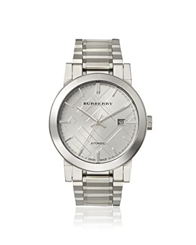 Burberry Men's BU9300 Silver/Silver Check Stainless Steel Watch