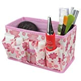 Coromose 1pc Hottest Makeup Cosmetic Storage Box Bag Bright Organiser Foldable Makeup Stationary Container