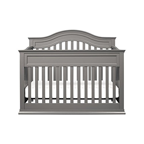 DaVinci Brook 4-in-1 Convertible Crib with Toddler Bed Conversion Kit in Finish, Slate