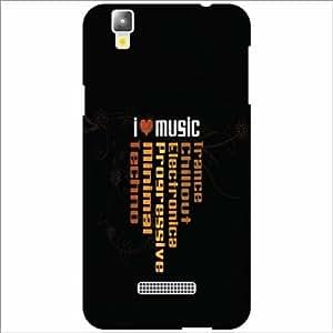 Yureka Plus Back Cover - Silicon Love Music Designer Cases