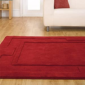 Flair Rugs Sierra Apollo Wool Rug, Red, 150 x 210 Cm       Customer reviews and more information