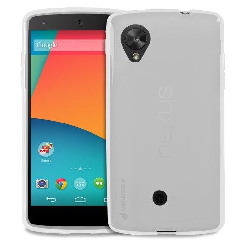 Fosmon DURA-CANDY Series Ultra Slim Flexible TPU Case Cover for Google Nexus 5 - Fosmon Retail Packaging (Clear)
