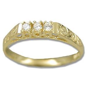 hawaiian jewelry 14k yellow gold flower