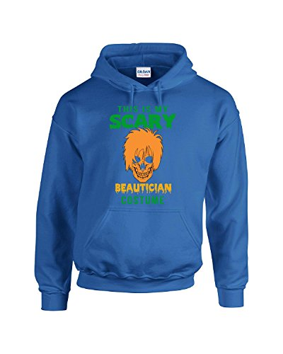 This Is My Scary Beautician Halloween Costume - Adult Hoodie M Royal