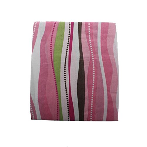 Tiddliwinks Raspberry Garden Striped Crib Fitted Sheet