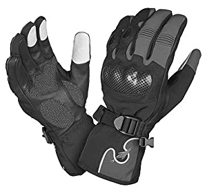 Sealskinz Motorcycle Glove - Waterproof, Thermal, Breathable and Windproof. 2012 / 2013 Model. Black and Grey, Large