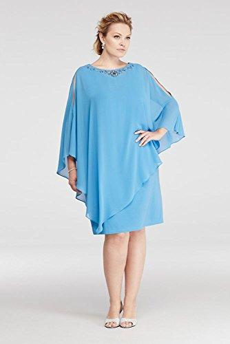 Plus Size Short Chiffon Caplet Mother of Bride/Groom Dress
