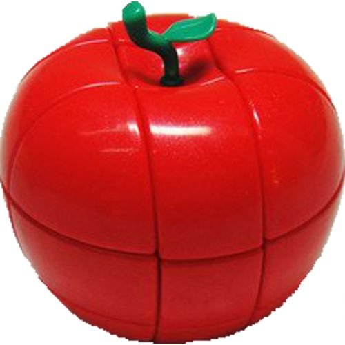 YJ 3x3 Apple Puzzle Cube Red - 1