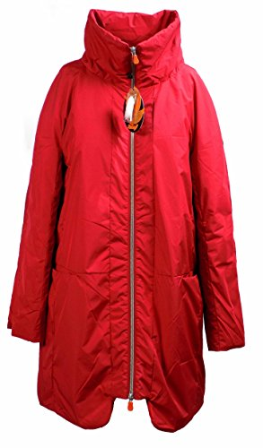 Giaccone Donna SAVE THE DUCK D4314W PAUL3 Nylon eco piumino Lungo over fit Autunno Inverno 2016 Rosso 1