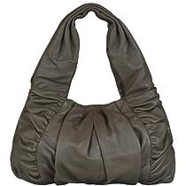 BELUCIA ARDORE BAG SUPER SOFT GENUINE CALFSKIN TAUPE-BROWN, $4.49 Shipping
