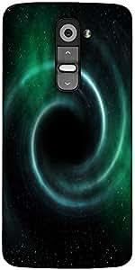 Snoogg Black Hole Universe Background Designer Protective Back Case Cover For LG G2
