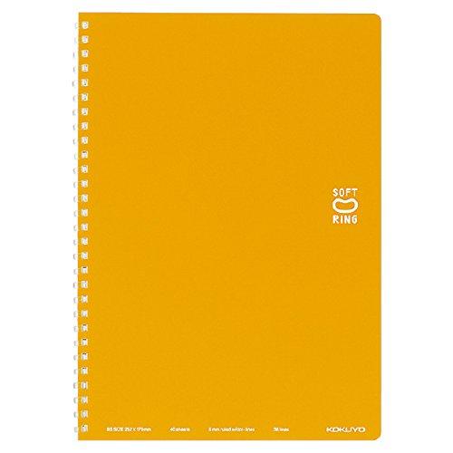 コクヨ ソフトリングノート(ドット入り罫線)セミB5 オレンジ