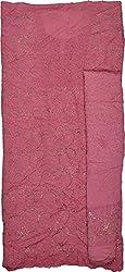 Knool Women's pure Chiffon Jacquard Unstitched Salwar Top and Dupatta Material (CPCDM02DPNK, Dark Pink)