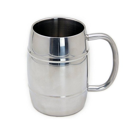 Beer Mug & Beer Steins, SUS304 Stainless Steel Travel Coffee Mugs,Espresso Cups,8oz/250ml Double Wall Air Insulated Tea Cups and Saucer,Drinking Beverage Cups Instead of Glasses Drinkware (Valentine Beer Mug compare prices)