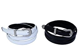 Contra Belt 3 Part Croco White and Black Combo